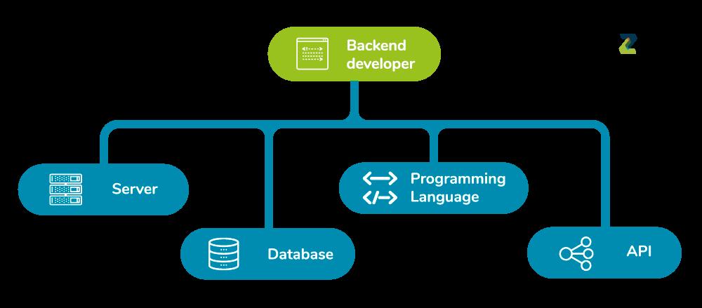 infográfico de backend developer