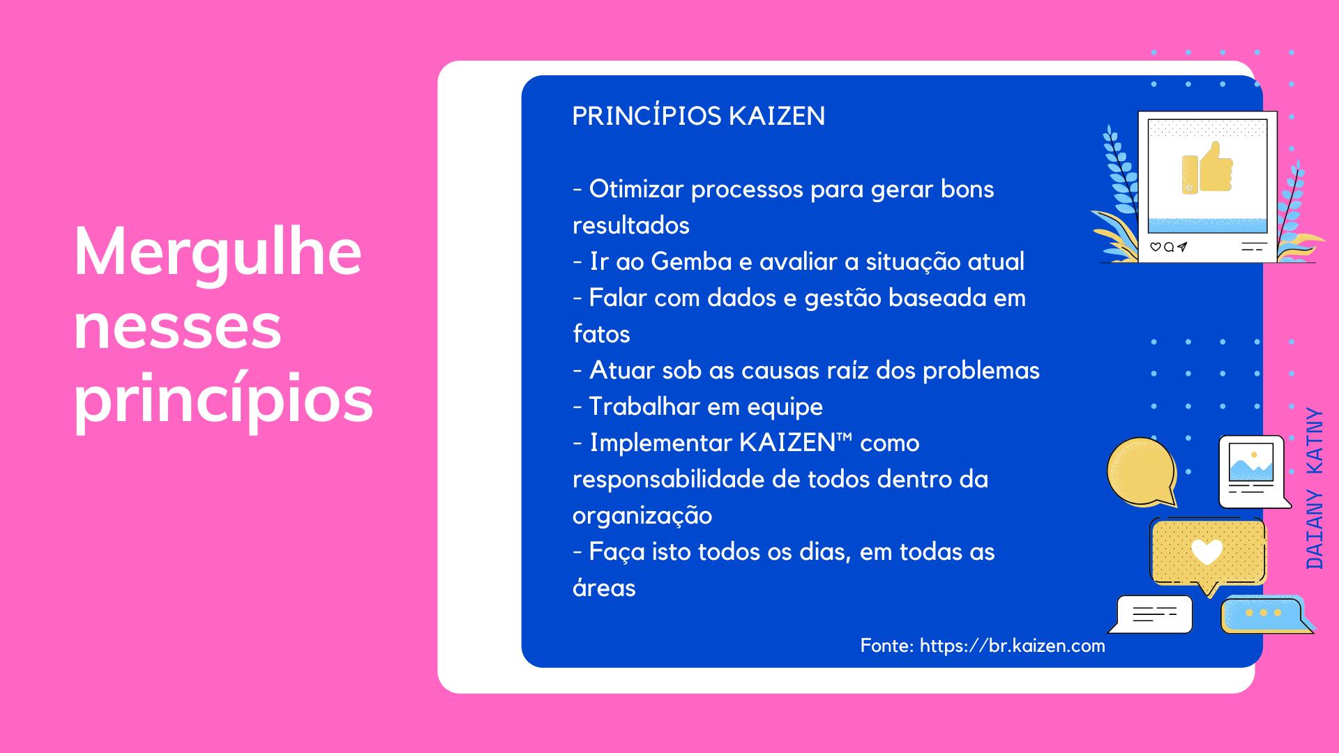 princípios kaizen
