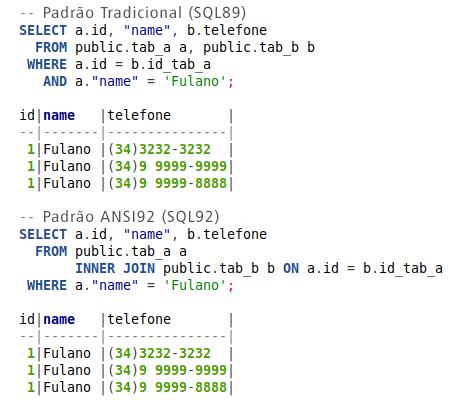 padrão SQL
