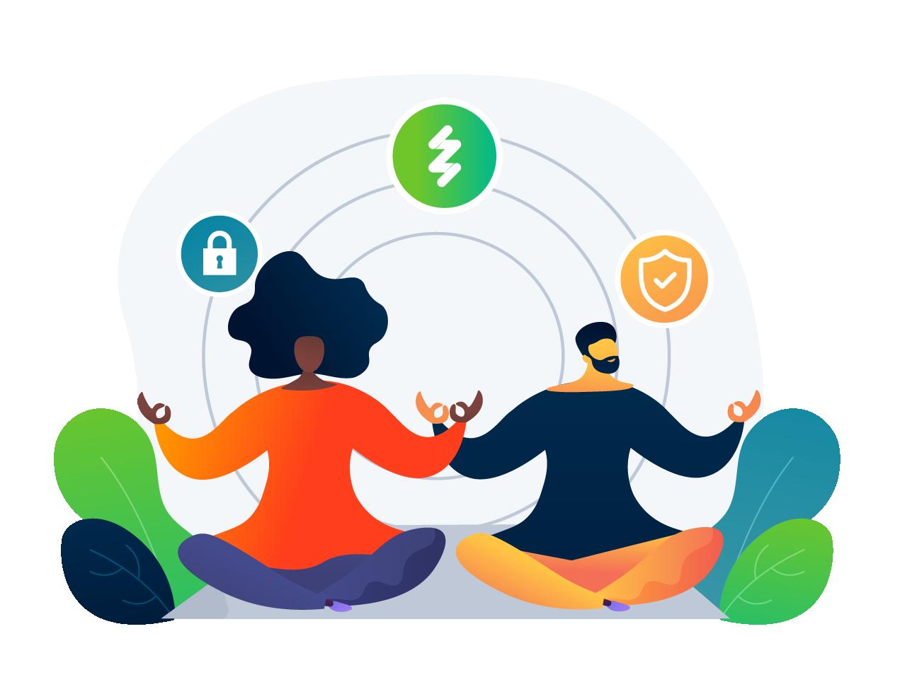 Valorizamos, respeitamos e protegemos os nossos ambientes, acessos, aplicações e dados de clientes e seus usuários.