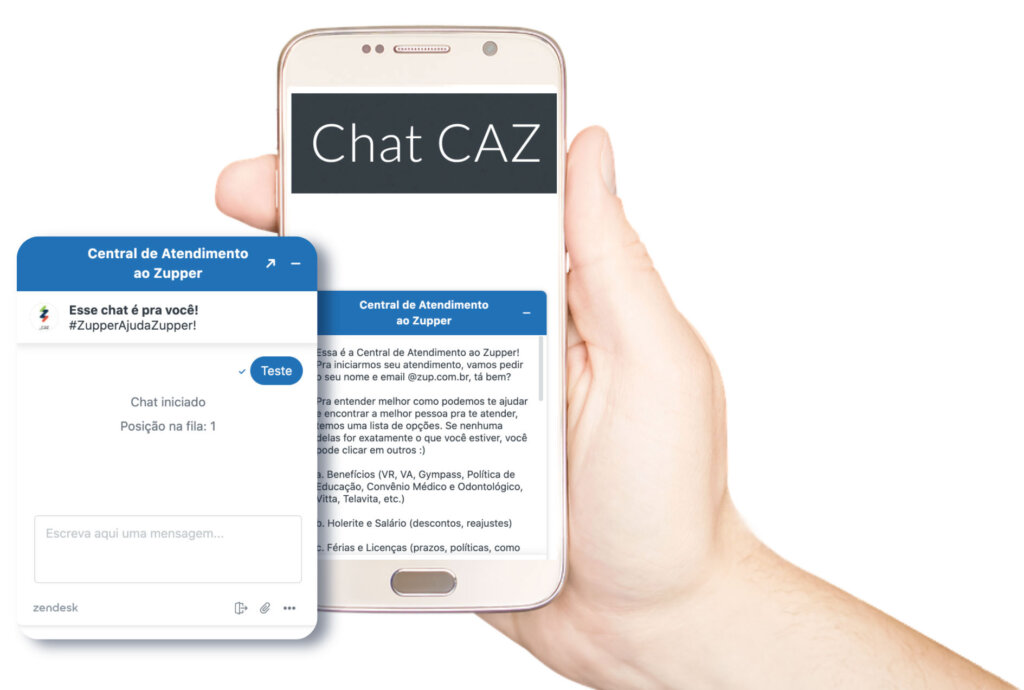 Chat CAZ - Central de Atendimento ao Zupper