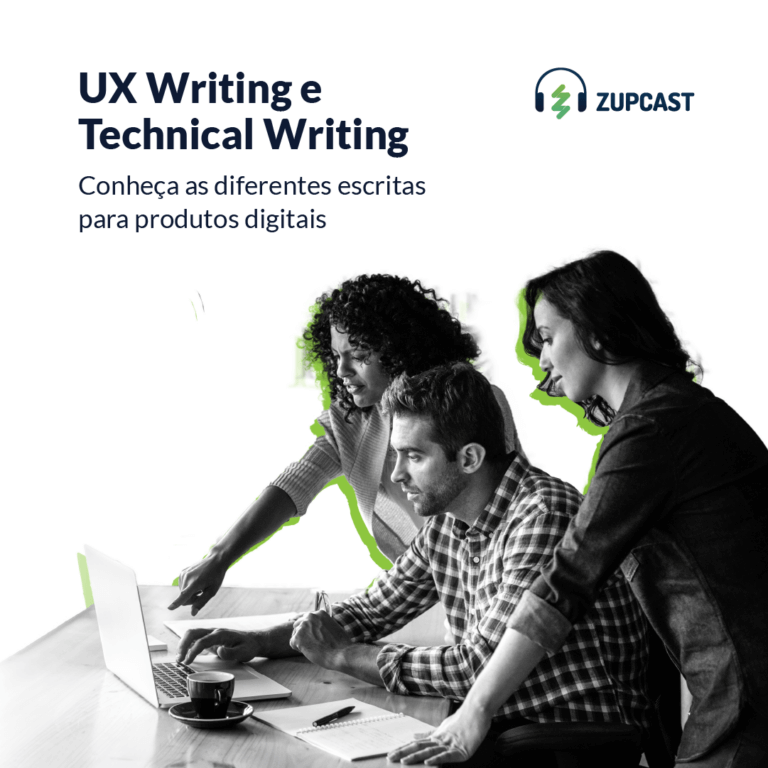 capa do zupcast UX Writing e Technical Writing