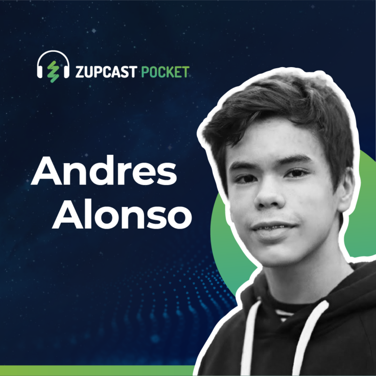 """Capa Zupcast """"Andres Alonso"""""""