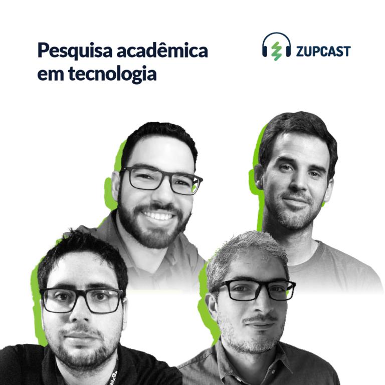 Capa do podcast sobre Pesquisa acadêmica em tecnologia com a foto das pessoas que participaram.